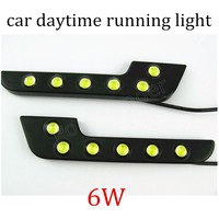 Hot Sale Eagle Eye 2 Pieces 6W Car Daytime Running Light LED DRL Auto 12V DC