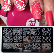 1 Pcs New Arrival 6.5*12.5CM Beauty Image Nail Stamping Plates Art Manicure DIY Stamp Tools Template ZJ004