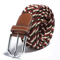 31 Colores Hombres Llanura Correas de Lona de Las Mujeres Hebilla de Metal Tejido Elástico Cintura Cinturón COCKCON