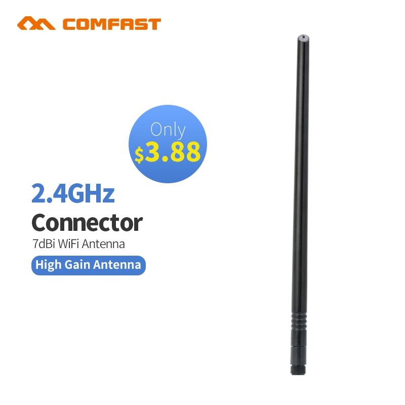 3 шт. COMFAST Wi-Fi антенны 2.4 ГГц 7dBi SMA медь беспроводной omni направлении маршрутизатора карты с высоким коэффициентом усиления Крытый Wi-Fi антенна ...