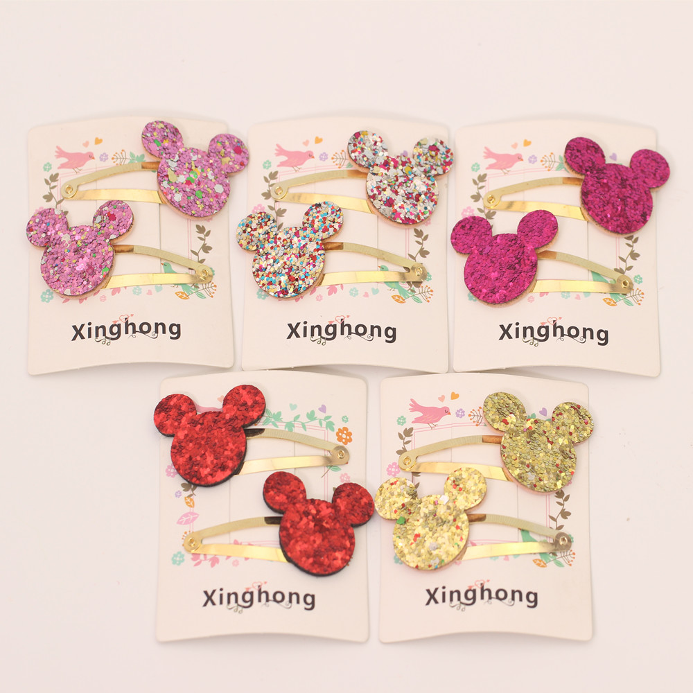 New Shining Minnie Mouse Hair Clips pin Accessories For Kids Girl Hair Barrette Hairclip Headdress Hairpin headwear Headdress simba пупс minnie mouse