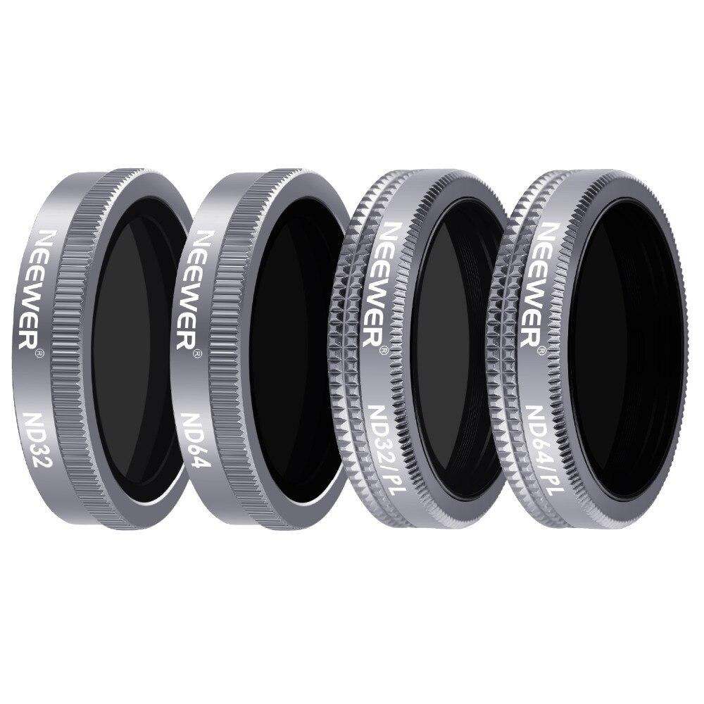 Neewer 4 шт. объектив фильтр затвора фильтр комплект для DJI Mavic 2 Zoom, включает многослойное покрытие ND32 ND64 ND32/PL ND64/PL фильтры