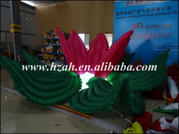 Newest Red and Green Inflatable Flower with LED Light for Wedding - Furniture