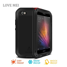 Love Mei xiaomi mi5 Waterproof Shockproof Tempered Gorilla Glass Metal Case Cover For xiaomi 5 Three proofing phone case
