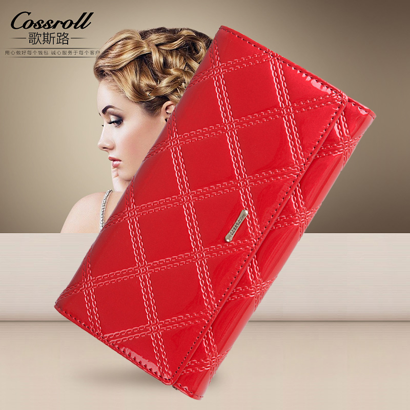 Genuine Leather Wallet Women Luxury Brand Long Womens Wallets and Purses Designer Clutch Wallets Female Coin Purse Red Fashion aelicy long clutch women wallet female simple retro owl printing womens wallets and purses luxury brand famous card holders