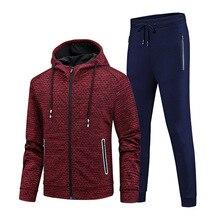 Tracksuit Men Spring Casual Sets Men Autumn Zipper Hoodies + Pants Sporting Wear Male Sporting Suits
