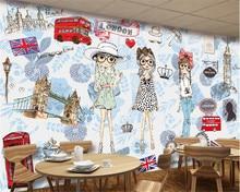45bbd8b7c86 Beibehang 3D обои старший французский модная одежда магазин настенные  фрески papel де parede обои для стен 3 d скачать