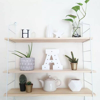 Nordic Style Scandinavian 3PCS Wooden Boards Metal Wall Shelf Nordic Wall Decor Shelf Kids Room Decor Organizer Storage Holders