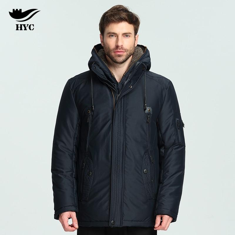 HAI YU CHENG Mens Winter Parka Jackets and Coats Snow Wear Wadded Parka Men Long Coat Jacket Trench Men Windbreaker Fleece Lined