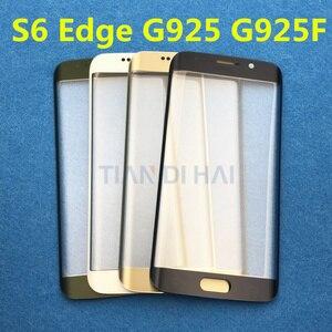 Image 3 - Ön Dış cam lens kapağı samsung için yedek Galaxy S6 Kenar G925 G925F S7 Kenar G935 G935F LCD cam ve B 7000 Tutkal & Aracı