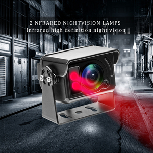 Image 5 - Podofo HD Back up Reverse Rearview Camera Parking System IR Cut LED Night Vision IP68 4 pin Connector For Truck Lorry Pickup Bus