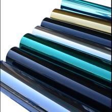 50*300 см одностороннее Зеркало Эффект Солнечный тонировка окна Светоотражающая Серебряная оконная пленка для уединенности безопасность винил отторжение тепла