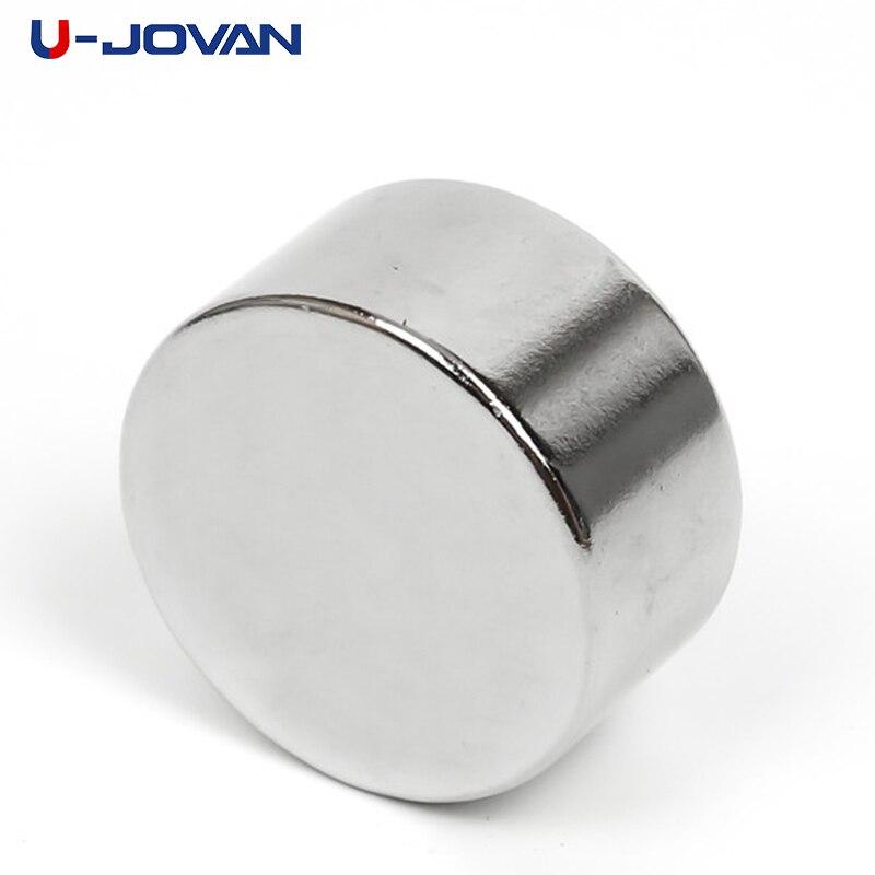 U-JOVAN 1pc 30 X 15mm N35 Round Super Strong Powerful Rare Earth Permanent Neodymium Magnet