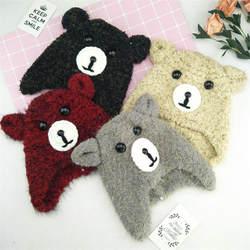 Мультяшные животные со шляпами теплая детская медведь головные уборы для фотосессий Косплей игрушка плюшевая игрушка в шапке Рождество