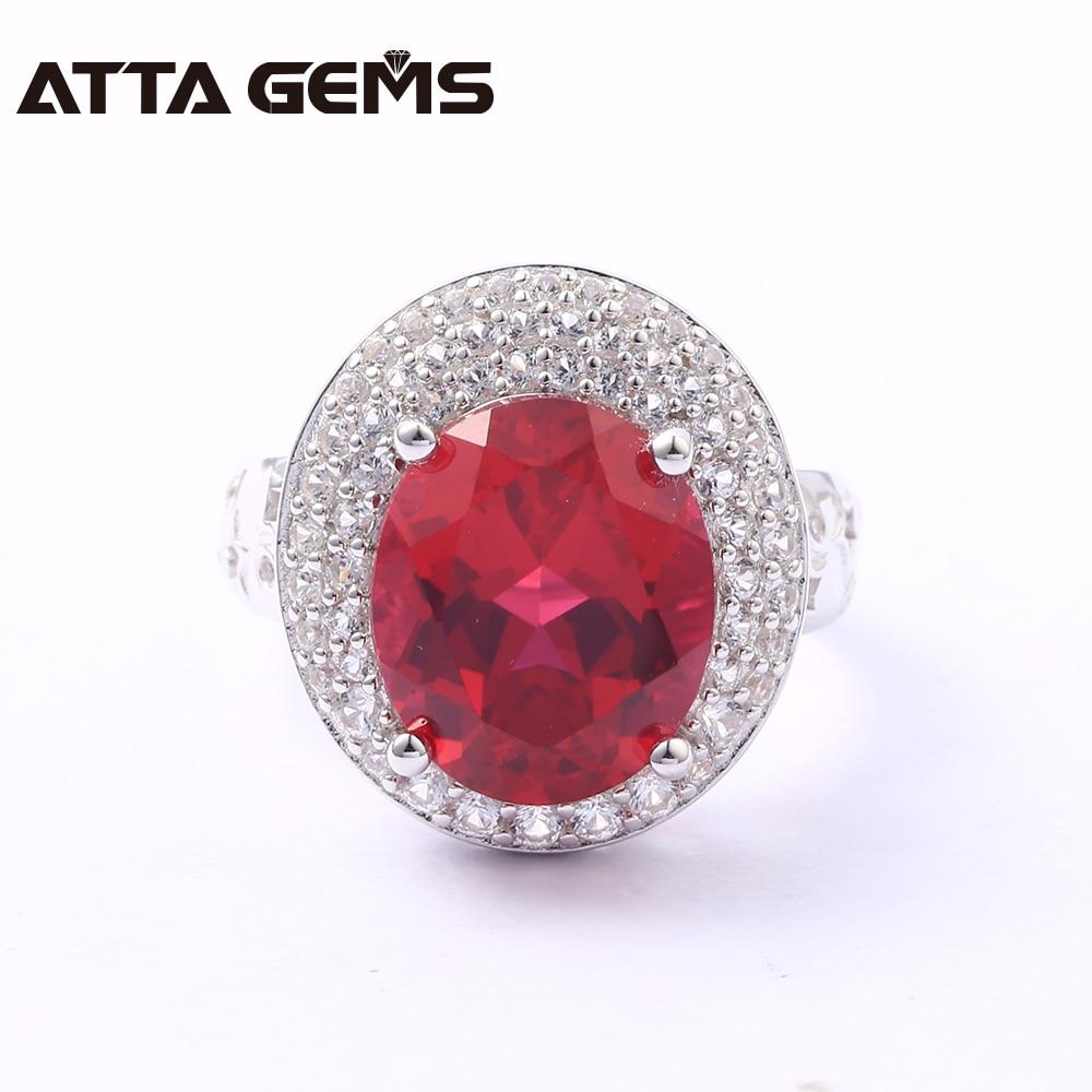 Bagues en argent Sterling rubis pour femmes 8 Carats créé rubis bijoux en argent massif Style classique pour les femmes de fiançailles de mariage - 2