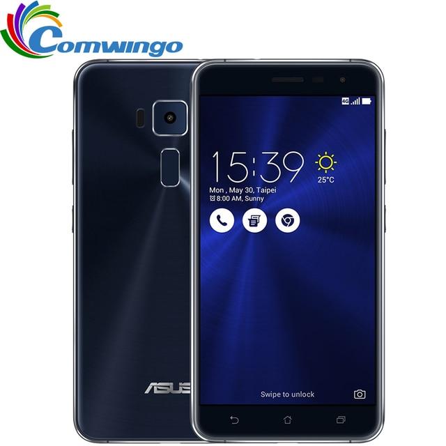 "Nueva original asus zenfone 3 ze552kl 4 gb ram 64g rom 16.0mp octa core 5.5 ""pulgadas Android 6.0 Teléfono Inteligente de Huellas Dactilares zenfone3"