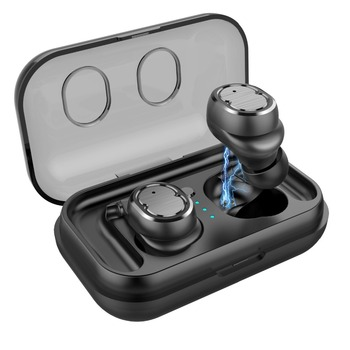 NEW Bluetooth mini  5.0 TWS Wireless Mini Earphones HiFi Sound Sport Waterproof earphone with Charging Box for ios android phone