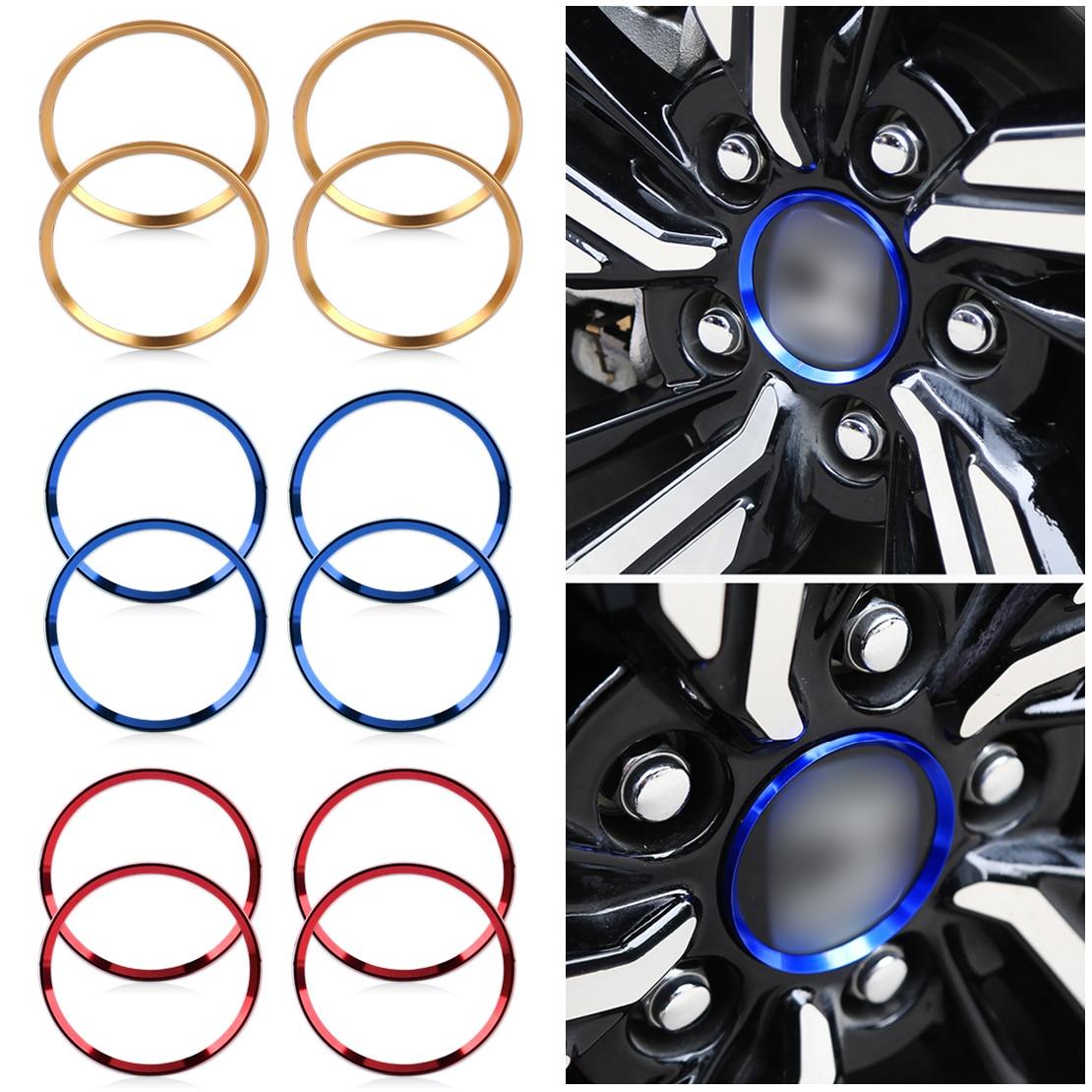 Blue Aluminium Alloy Wheel Center Hub Ring Trim For Honda CIVIC 2016-2017 2018