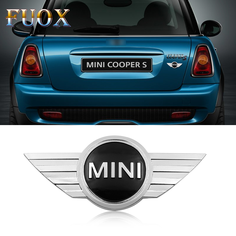 3D Car Styling Sticker Metal Body Rear Tailgate Badge For BMW Mini Cooper 2011 2012 2013 R56 R50 R53 F56 F55 R60 Car Accessories