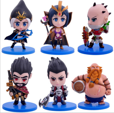 2016 NEW Hot Action Figure Toys 6pcs/set 8CM Ashe Darius Gragas Graves Leblanc Singed Cool Christmas gift doll цена 2017
