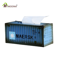HAKOONA Industrial Container Tissue Boxes Cover Paper Vintage Table Decoration Gift