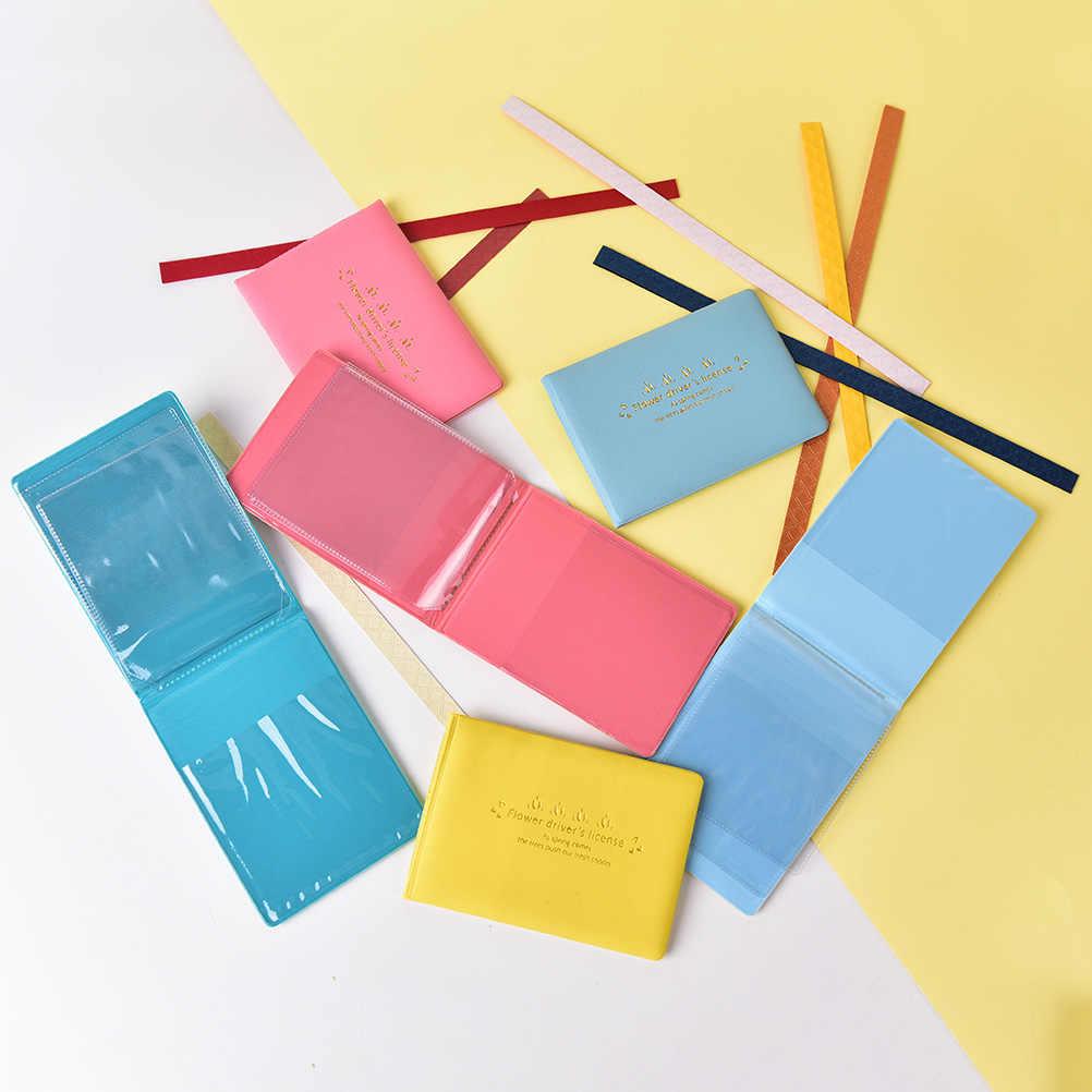 1 PC cukierki kolor PU Leather na okładce do jazdy samochodem dokumenty posiadacz karty portmonetka portfel przypadku Auto prawo jazdy torba