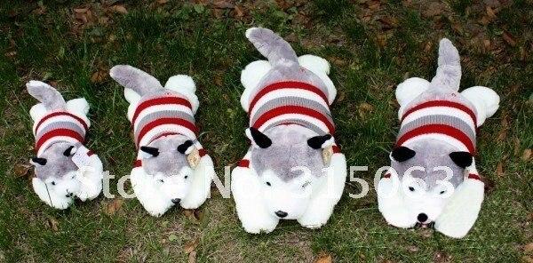 60 cm les figurines originales huskies de chandail de chiens tombés sur tous les jouets moelleux quatre numéros livraison gratuite