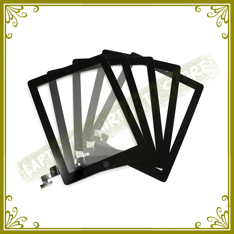 5PCS/SET White Black New Grade AAA 7.9 Inch For Ipad 2 A1395 A1396 A1397 Digitizer Touch Screen Glass Panel Sensor Replacement 5pcs set tested new original white black 7 9 inch for ipad mini 3 digitizer touch front glass lcd panels screen repair part