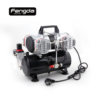 Fengda Oil Free Mini Air Compressor AS 48A Air Pump Body Paint Tattoo Airbrush Spray Gun