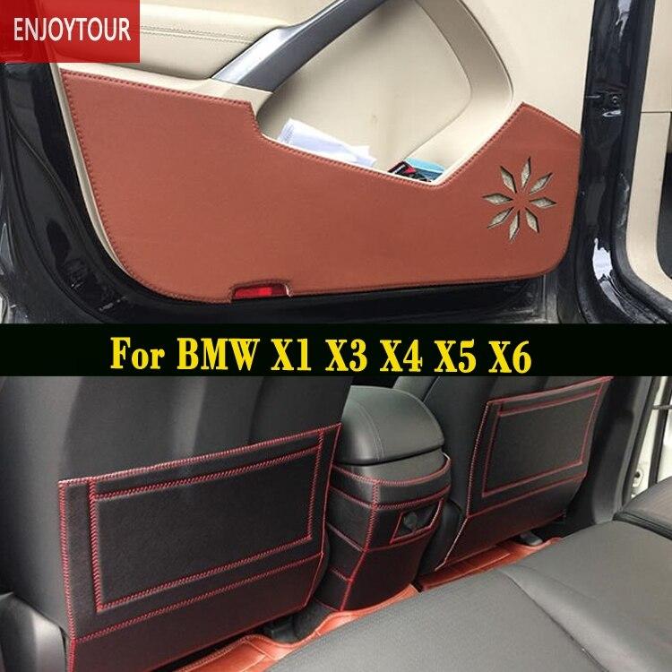 Voiture plaquettes avant arrière Siège de porte Anti-kick tapis Accessoires Pour BMW X1 F48 E84 X6 E71 F16 X50 E70 F15 X4 F26 X3 F25