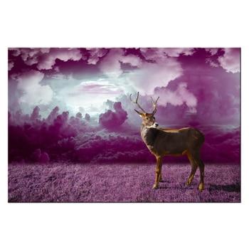 Vahşi Hayvan Boyama Geyik Tuval Duvar Sanatı Hd Baskılı Resim Tuval