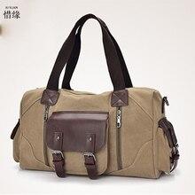 XIYUAN MALE Canvas Leather Crossbody Bag Men Vintage Messenger Bags MAN Large Shoulder Bag Travel HANDBags Sacoche Homme HANDBAG