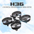 Original H36 Mini Drone JJRC 6 Axis Gyro 2.4 GHz RC Quadcopters Con Modo Sin Cabeza de Una Tecla de Retorno RC Helicóptero