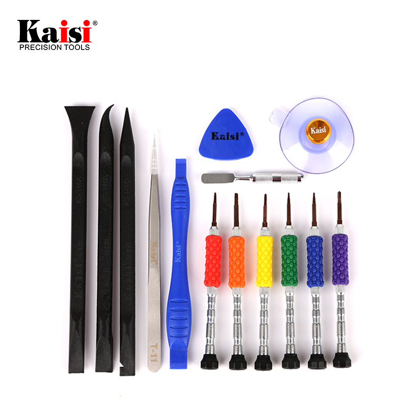 14pcs Cell Phone Repair Tools Kit Opening Tool Precision Screwdriver Set for Iphone 7 Cacciavite Security Torx Screwdriver Hand Tool Sets     - title=