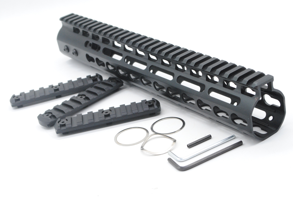 TriRock Hunting Accessories Picatinny Rail NSR 12 Free Float Handguard Top System Lightweight With 3 PCS Rail Section paintball airsoft 7 9 12 m16 m4 ar 15 quad rail handguard free float hunting accessorie 223 5 56 picatinny quad rail