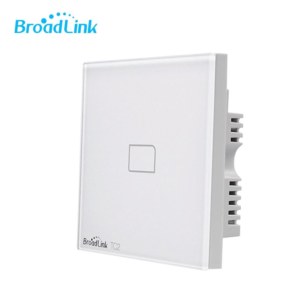 Broadlink TC2 1 Gang 2 Gang 3 Gang UK Plug Tactile Interrupteur Électrique Équipement RF433 Sans Fil Wifi Contrôle Lumière interrupteur mural
