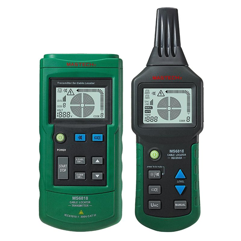 MASTECH MS6818 advanced wire tester tracker multi-function Cable detector 12~400V Pipe Locator Meter pressure transmitter mastech ms6818 portable instruments professional cable locator wire tracker pipelines detector tester ac dc voltage 12 400v