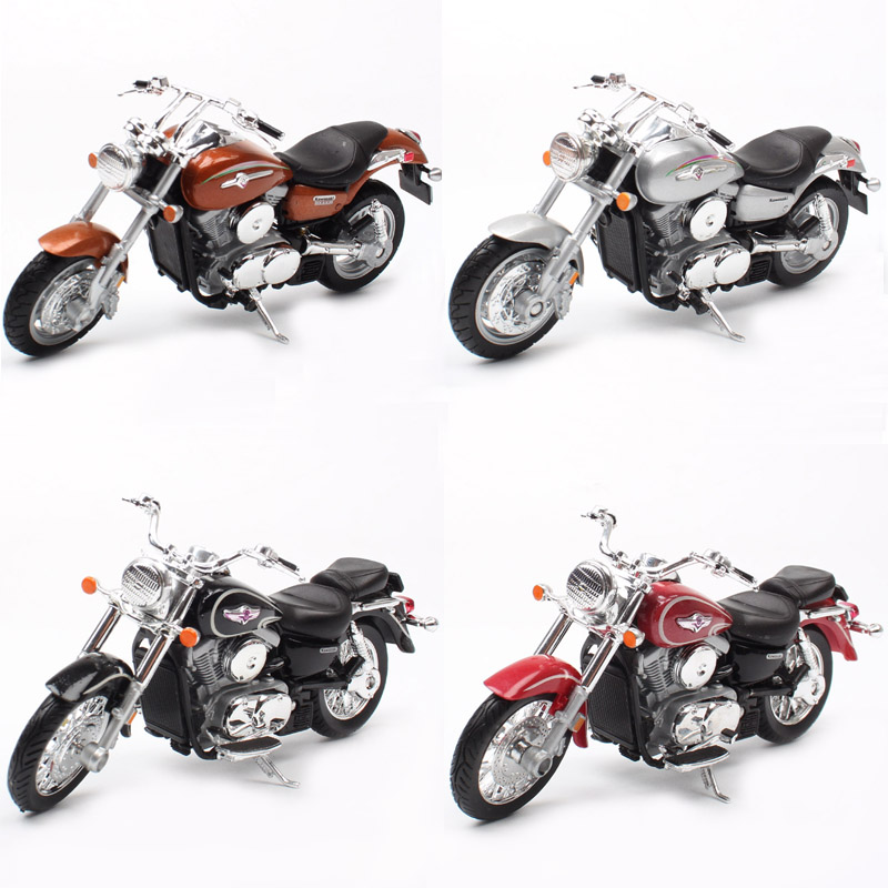 1:18 Scale Small Welly 2002 Kawasaki VN Vulcan 1500 MEAN STREAK Classic Motorcycle Cruiser Motorbike Model Diecast Toy For Kid's