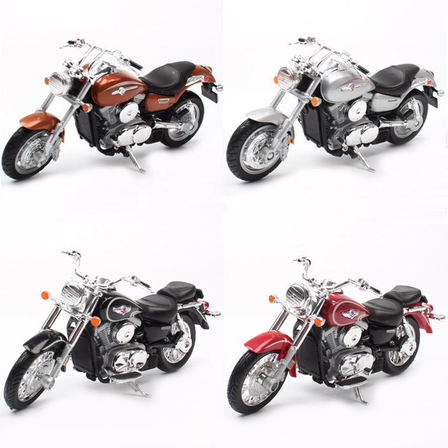1:18 scale small welly 2002 Kawasaki VN Vulcan 1500 MEAN STREAK classic motorcycle cruiser Motorbike model Diecast toy for Kids