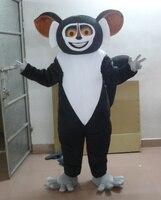 Siyah Koala Maskot Kostüm Siyah Yuvarlak Büyük Burun Büyük Baş Ile Siyah Kısa Arms Bacaklar Yetişkin Boyutu Tatil özel giyim