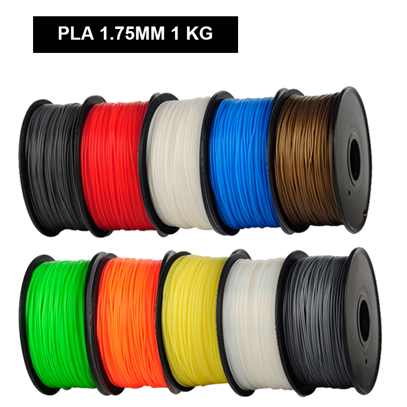 ФОТО 10 Color Optional 1.75mm PLA 3D Printer Filaments1KG/roll Plastic Rubber Filament Consumables Material MakerBot RepRap UP Mendel