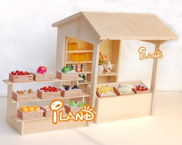 Iland DIY 112 Miniature Dollhouse Scale Street Shop With