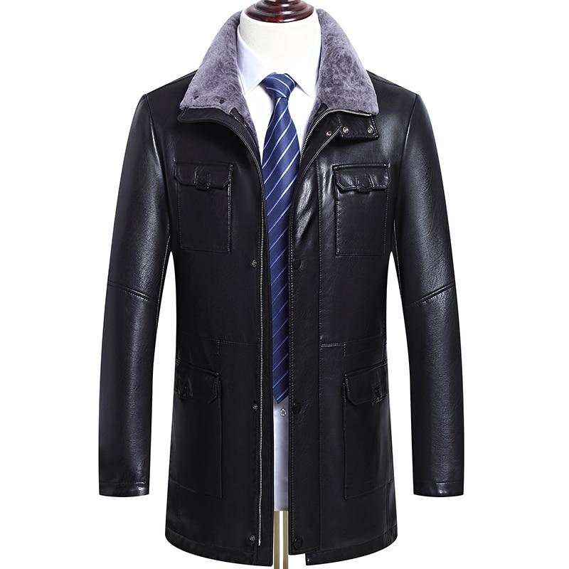 Hommes Style Épaississement Fourrure Et Col Manteaux Outwear Veste b Agneau Style Noir Cuir Vestes Chaud D'affaires En A 2018 Décontractée De Nouvelle D'hiver TXZqczqUR