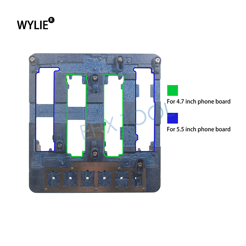 WL-B68 Precision Molds Mobile Phone Motherboard PCB Repair Holder Platform Maintenance Fixture For iPhone 6 6P 6S 6SP 7 7P 8 8P high temperature resistant pcb motherboard test fixture jig holder maintenance repair platform for iphone 8 8p 7 7p 6 6s 5 5s