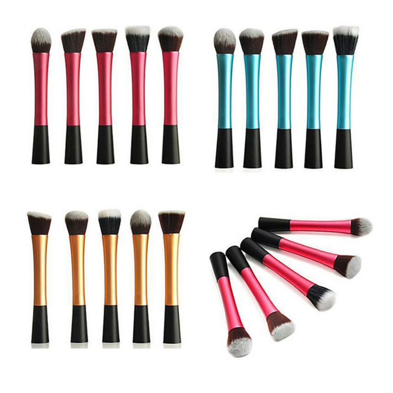 Reckmoon Pro 5Pcs Makeup Brushes Tools Cosmetics Blush Face Brushes Beauty Kit Kabuki Makeup Brush Set Women Foundation Make Up 2017 jessup brushes 5pcs black silver beauty kabuki makeup brushes set foundation powder blush makeup brush cosmetics tools t063