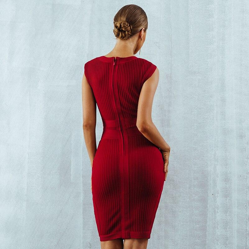 Dos Robes Courroie V De Mode Col Nu Gaine Sexy Celebrity Gros Robe Femmes Corps Con En Bandage Profond Soirée Y3050 c34L5ARjq