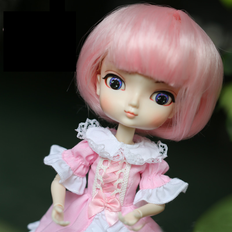 22cm Head Circumference 30cm Length 1/6 Bjd Doll Wig Sd/bjd Female Bbgirl Doll Wig Hair Accessories Makeup Toys For Girls Aromatic Character And Agreeable Taste Toys & Hobbies