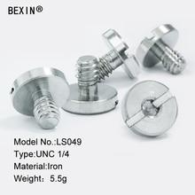 лучшая цена 5PCS camera screw mount accessories 1/4 inch screw quick release iron screw for the camera quick release plate tripod monopod