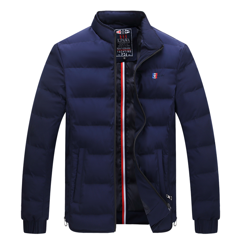 Men's Casual   Parkas   Solid Fleece Winter Sharked Jackets Men Hooded Thick Warn Padded Overcoat Man Jaqueta Masculino Inverno