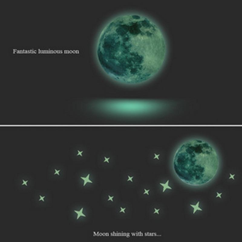 creative 3 d luminous moon stars the bedroom of children room